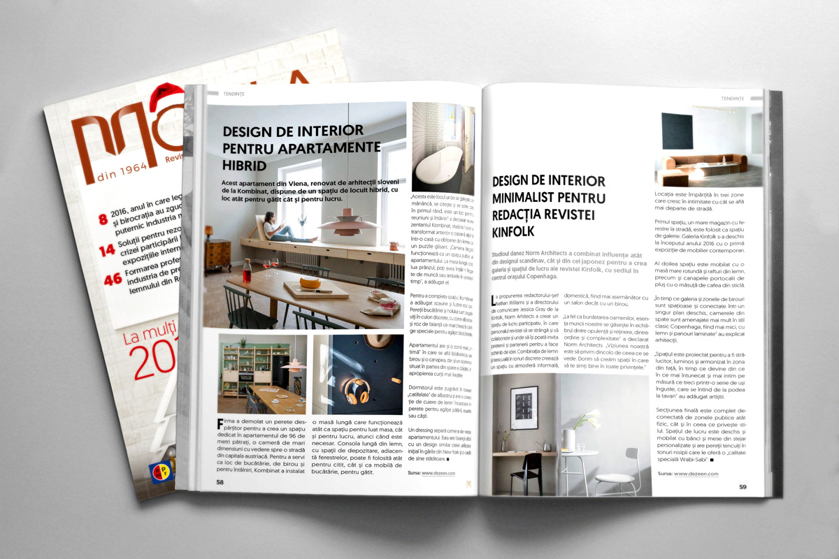 Machetare revista Mobila nr. 6 - interior